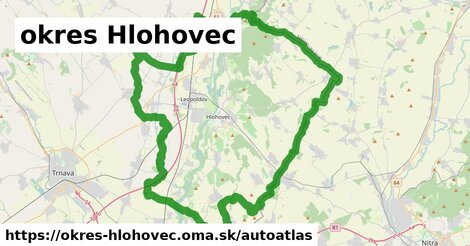 ikona Mapa autoatlas  okres-hlohovec