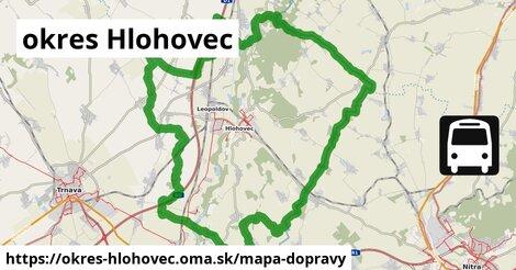 ikona Mapa dopravy mapa-dopravy  okres-hlohovec