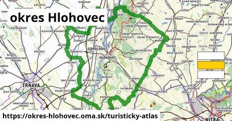 ikona okres Hlohovec: 22km trás turisticky-atlas  okres-hlohovec