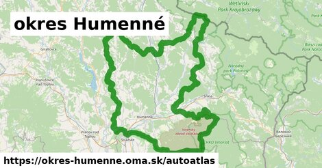 ikona Mapa autoatlas  okres-humenne