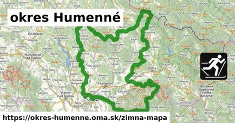ikona Zimná mapa zimna-mapa v okres-humenne
