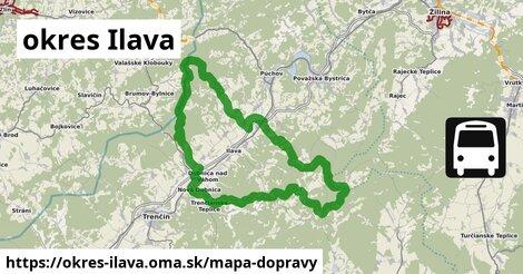 ikona Mapa dopravy mapa-dopravy  okres-ilava