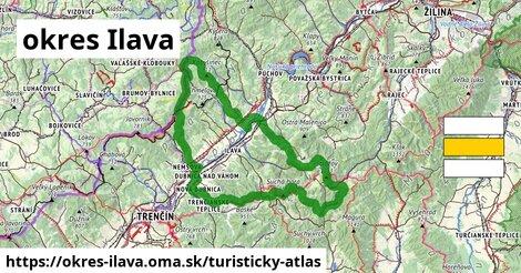 ikona Turistická mapa turisticky-atlas  okres-ilava