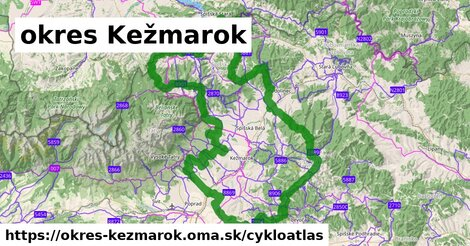 ikona okres Kežmarok: 371km trás cykloatlas  okres-kezmarok