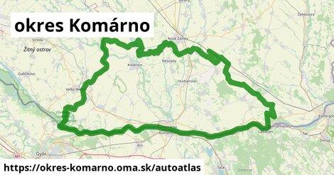 ikona Mapa autoatlas  okres-komarno