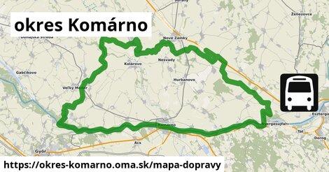 ikona okres Komárno: 410km trás mapa-dopravy  okres-komarno
