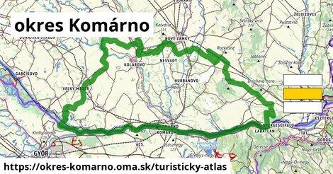 ikona okres Komárno: 44km trás turisticky-atlas  okres-komarno
