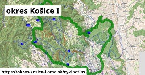 ikona okres Košice I: 71km trás cykloatlas  okres-kosice-i