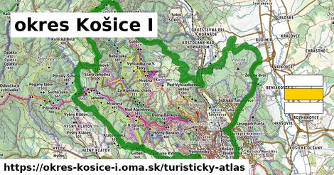 ikona okres Košice I: 125km trás turisticky-atlas  okres-kosice-i