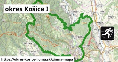 ikona okres Košice I: 37km trás zimna-mapa  okres-kosice-i