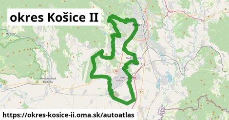 ikona Mapa autoatlas  okres-kosice-ii