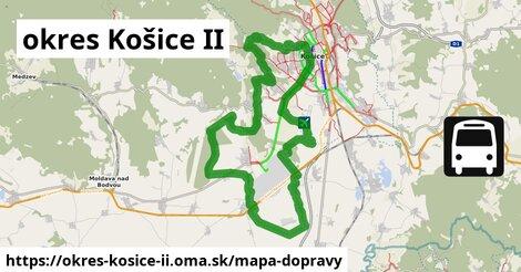 ikona okres Košice II: 258km trás mapa-dopravy  okres-kosice-ii