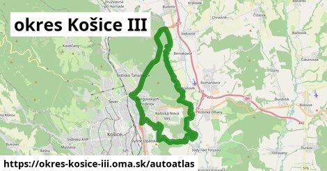 ikona Mapa autoatlas  okres-kosice-iii