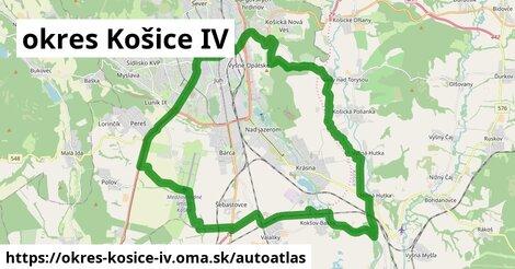 ikona Mapa autoatlas  okres-kosice-iv