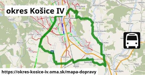 ikona okres Košice IV: 223km trás mapa-dopravy  okres-kosice-iv