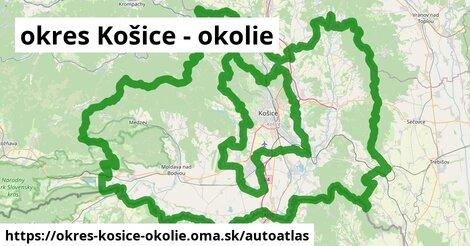 ikona Mapa autoatlas  okres-kosice-okolie