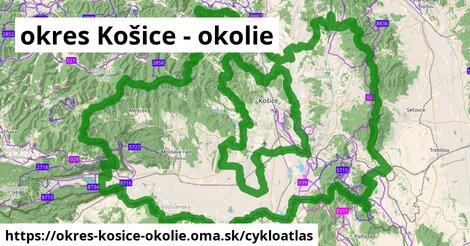 ikona okres Košice - okolie: 314km trás cykloatlas  okres-kosice-okolie