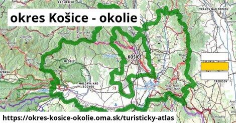 ikona okres Košice - okolie: 880km trás turisticky-atlas  okres-kosice-okolie