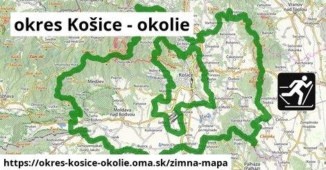 ikona okres Košice - okolie: 59km trás zimna-mapa  okres-kosice-okolie