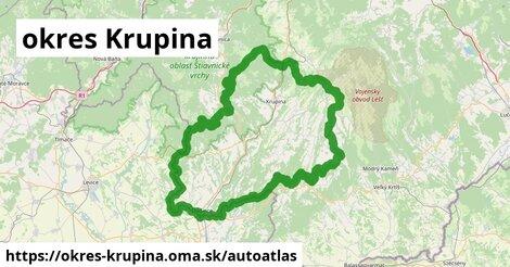 ikona Mapa autoatlas  okres-krupina