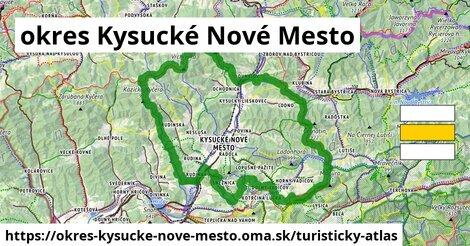 ikona okres Kysucké Nové Mesto: 97km trás turisticky-atlas  okres-kysucke-nove-mesto