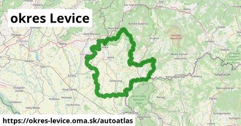 ikona Mapa autoatlas  okres-levice