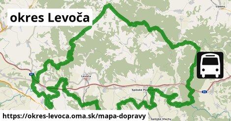 ikona Mapa dopravy mapa-dopravy  okres-levoca
