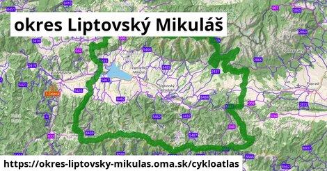 ikona okres Liptovský Mikuláš: 344km trás cykloatlas  okres-liptovsky-mikulas