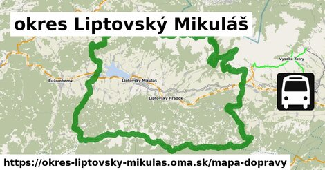 ikona okres Liptovský Mikuláš: 82 km trás mapa-dopravy  okres-liptovsky-mikulas