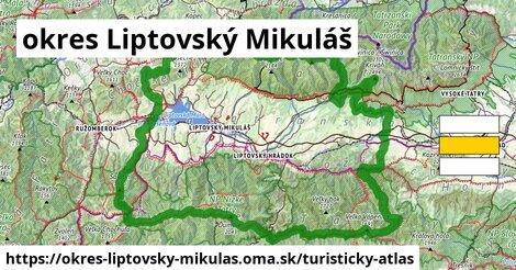 ikona okres Liptovský Mikuláš: 582km trás turisticky-atlas  okres-liptovsky-mikulas