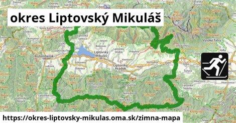 ikona okres Liptovský Mikuláš: 28km trás zimna-mapa  okres-liptovsky-mikulas