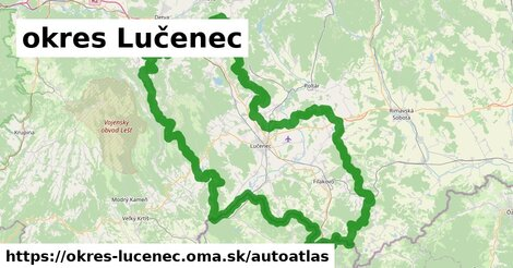 ikona Mapa autoatlas  okres-lucenec