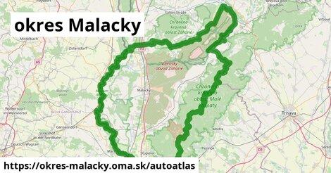 ikona Mapa autoatlas  okres-malacky