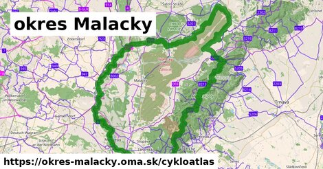 ikona okres Malacky: 419km trás cykloatlas  okres-malacky