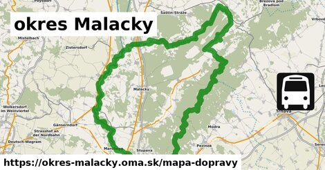 ikona okres Malacky: 1001km trás mapa-dopravy  okres-malacky