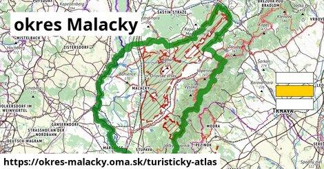 ikona okres Malacky: 321km trás turisticky-atlas  okres-malacky