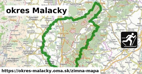 ikona okres Malacky: 92km trás zimna-mapa  okres-malacky