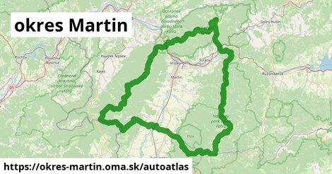 ikona Mapa autoatlas  okres-martin