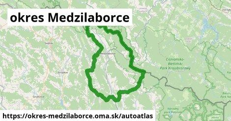 ikona Mapa autoatlas  okres-medzilaborce