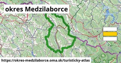 ikona Turistická mapa turisticky-atlas  okres-medzilaborce