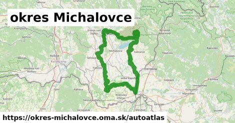 ikona Mapa autoatlas  okres-michalovce