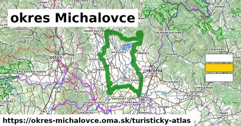 ikona Turistická mapa turisticky-atlas  okres-michalovce
