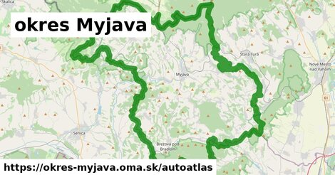 ikona Mapa autoatlas  okres-myjava