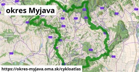 ikona okres Myjava: 166km trás cykloatlas  okres-myjava