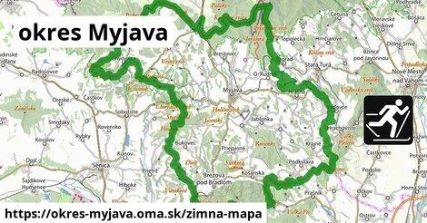 ikona okres Myjava: 18km trás zimna-mapa  okres-myjava