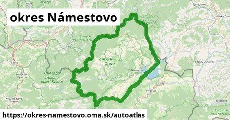 ikona Mapa autoatlas  okres-namestovo
