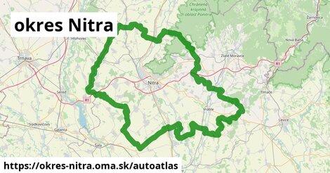 ikona Mapa autoatlas  okres-nitra