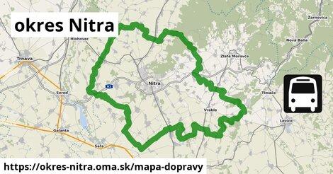ikona Mapa dopravy mapa-dopravy  okres-nitra