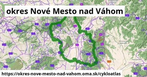 ikona okres Nové Mesto nad Váhom: 312km trás cykloatlas  okres-nove-mesto-nad-vahom