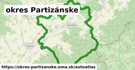 ikona Mapa autoatlas v okres-partizanske